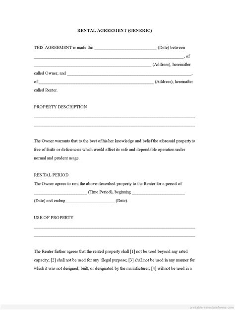lease agreement for house samples business document