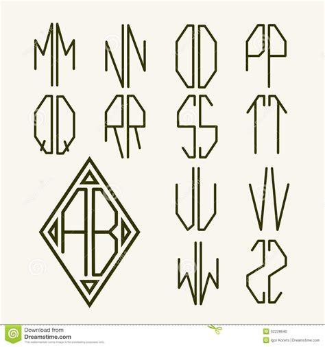 monogramma lettere set 2 templates of letters to create monogram stock vector