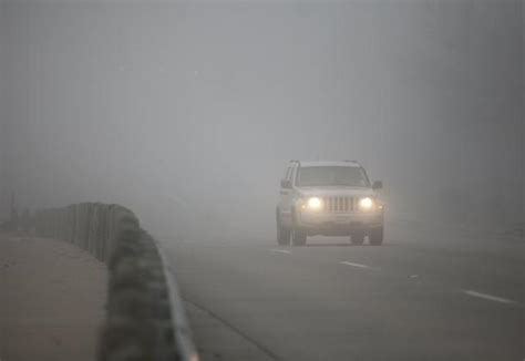 dense fog covers delaying and canceling