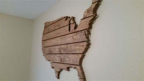 buy  hand crafted usa map large wooden wall art