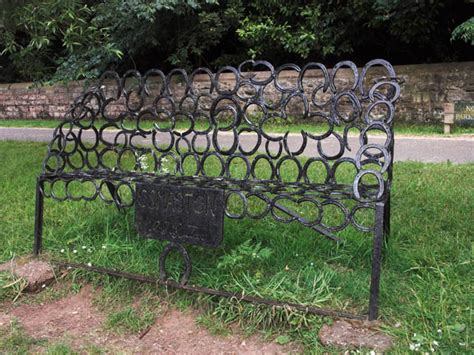 horseshoe bench file horseshoe bench at osmaston geograph org uk