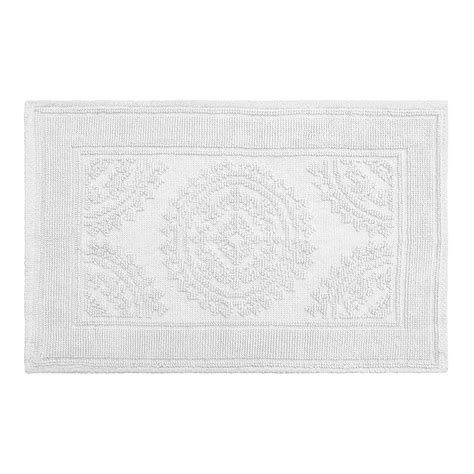 17 X 24 Bath Rug Jean Cotton Stonewash Medallion 17 In X 24 In Bath Rug In White Ymb007617 The Home Depot