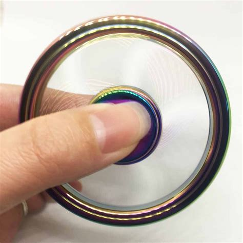 Premium Fidget Spinner Metal 3 Side Circle Spinner Toys circle rainbow fidget spinner spinner edc toys