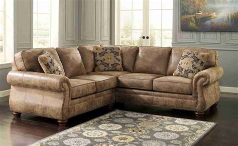 furniture rustic leather sectional sofa with pattern rug