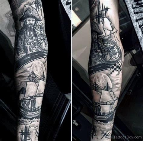 nautical sleeve tattoo designs compass tattoos designs pictures