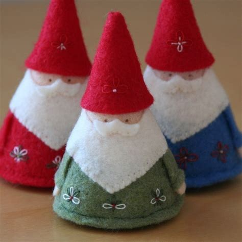 best photos of felt gnome pattern christmas felt crafts