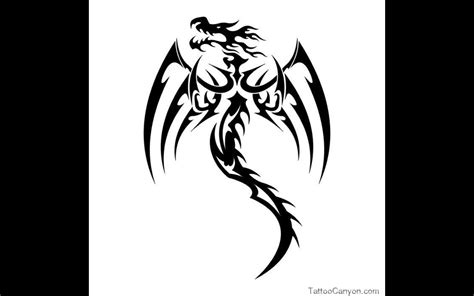 black tribal dragon tattoo designs 12631 tribal designs black design