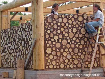 How Much To Build A House In Michigan by Casas Ecol 243 Gicas De Madera Con Trozos Y Rollos De Troncos