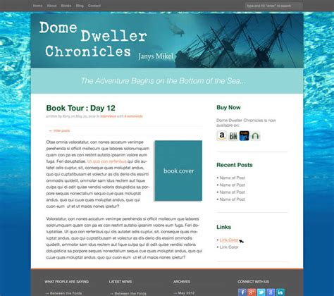 layout for blog announcing new author website templates where writers win