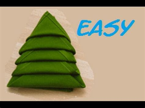 How To Fold Paper Into A Tree - how to fold a napkin tree easy hd