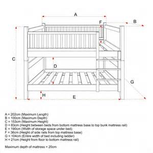 Bunk Bed Measurements Play Bunk Beds For Large Families From Woodland 3 524x363 Apps Directories