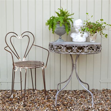 Grey Bistro Table Grey Bistro Set By Miafleur Notonthehighstreet