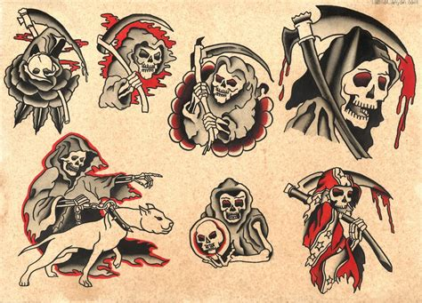 traditional tattoo flash 24 horror tattoos flash ideas