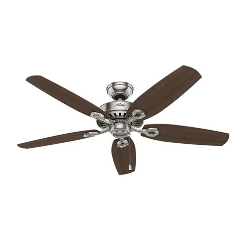 builder elite ceiling fan builder elite 52 in indoor brushed nickel ceiling