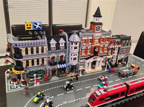Home Office Layout Planner lego city with town hall lego spectator