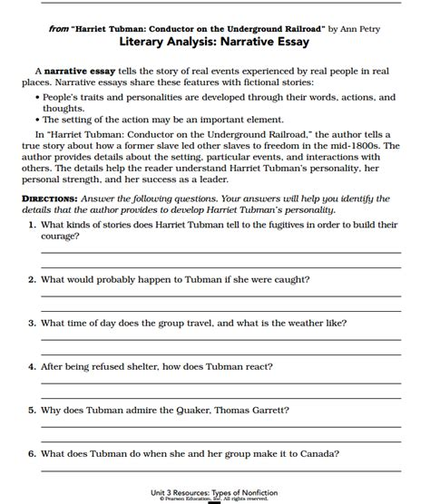 harriet tubman biography and questions harriet tubman worksheet abitlikethis
