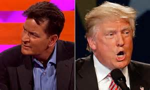 charlie sheen accuses donald trump of gifting him