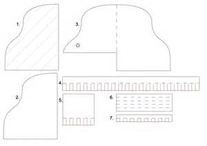 Piano Template by Template For A Piano Card Diy Cards