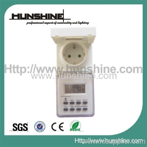 Electronic Timer Waterproof Wt001 3600w outdoor waterproof digital timer from china manufacturer ningbo hunshine lighting