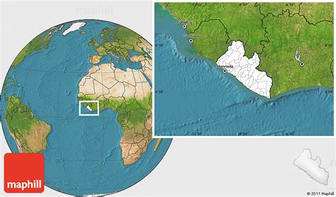 where is liberia located on the world map blank location map of liberia satellite outside