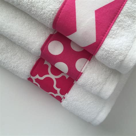 pink bathroom towels pink towels hand towel chevron hot pink bathroom by augustave