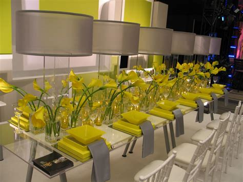 Pinterest Pictures Of Yellow End Tables With Gray modern table settings ideas homes gallery