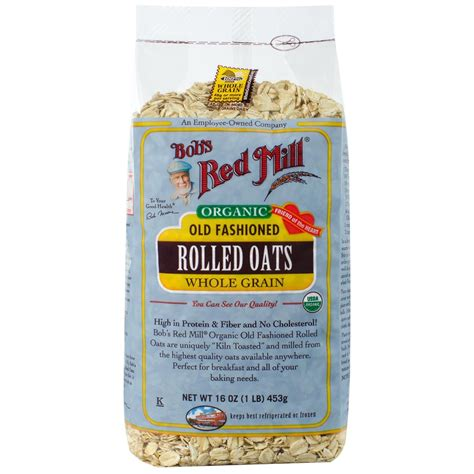 whole grain rolled oats bob s mill organic fashioned rolled oats whole
