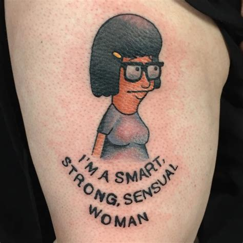 tina tattoo tina from bob s burgers traditional by