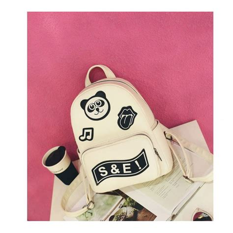 Bag Korea Po G3274who korea pu mini panda backpack waterproof school bag