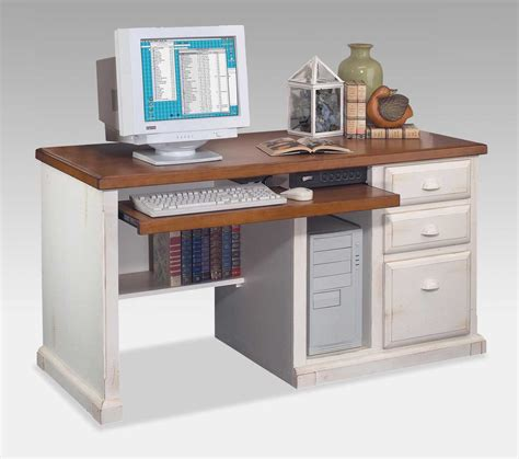 white desk with wood top rectangle white wood desk with storage drawers and brown