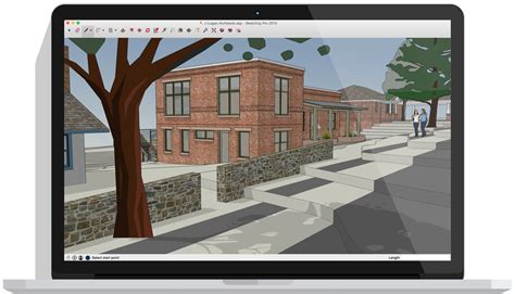 sketchup pro software create  model  sketchup