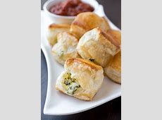 Puff Pastry Spinach Cheese Bites Meat Spinach Cheese Pastry