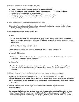 edgar allan poe biography worksheet answers edgar allan poe worksheets casademateo