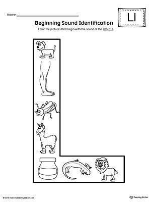 L Sound Worksheets by Number Names Worksheets 187 Letter L Phonics Worksheets