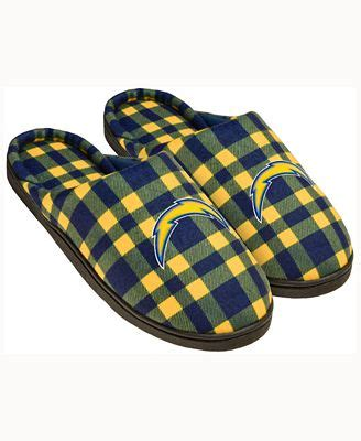 chargers slippers forever collectibles san diego chargers flannel slide