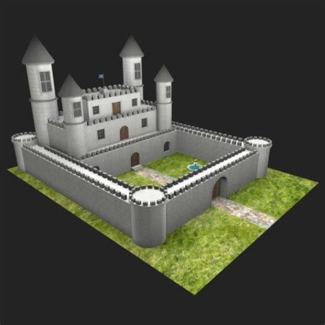 Fantasy Castle Free 3D Model   .obj .mb .fbx   Free3D