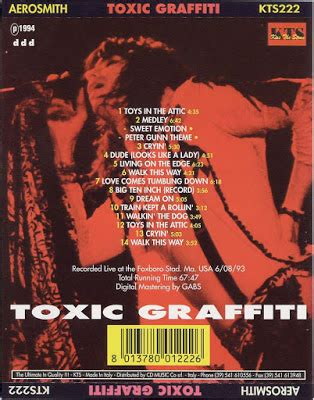 Aerosmith Unplugged 1990 1cd 2017 t u b e aerosmith toxic graffiti sbd flac