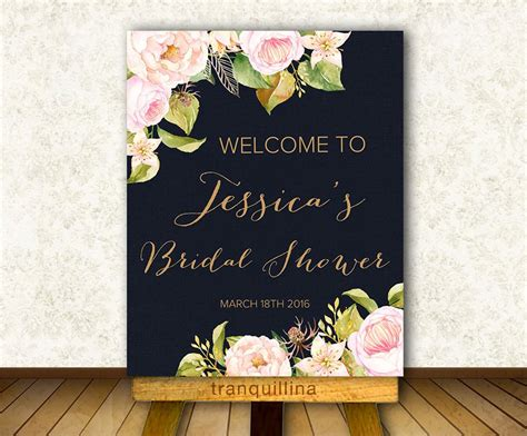Welcome To Bridal Shower Sign by Floral Welcome Sign Printable Bridal Shower Welcome Sign