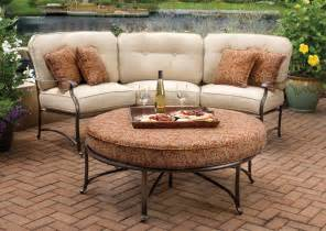 Curved Patio Furniture Set by Curved Patio Furniture Covers 5 Piece Sectional Patio Set