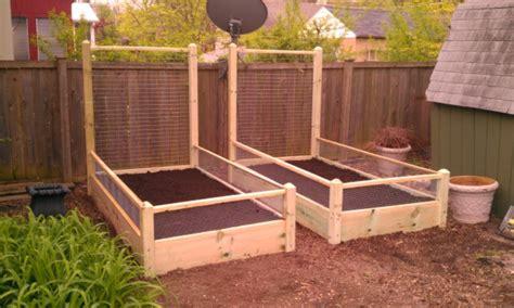 4 Foot Trellis Two 3x8x2 Raised Garden Bed With 6 Foot Trellis