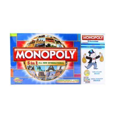 Mainan Anak Monopoli Murah Monopoly 5 In 1 jual istana kado iko00691 mainan monopoli board 5 in 1 harga kualitas