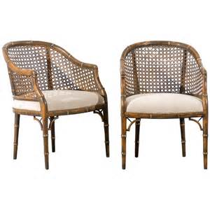 beautiful vintage faux bamboo barrel back chairs 4