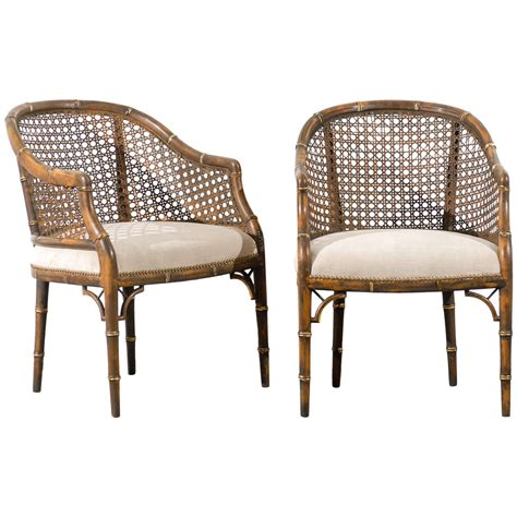 beautiful chairs beautiful vintage faux bamboo cane barrel back chairs 4