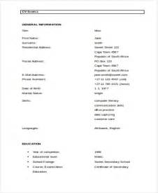 simple resume template word 48 resume formats free premium templates