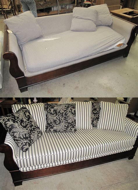 upholstery before and after reupholstery sofa reupholster a sofa cost centerfieldbar