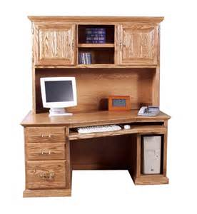 Angled Computer Desk Fd 1054t And Fd 1016t 61 Quot Traditional Oak Angled Computer Desk Hutch Standard Oak Desk In