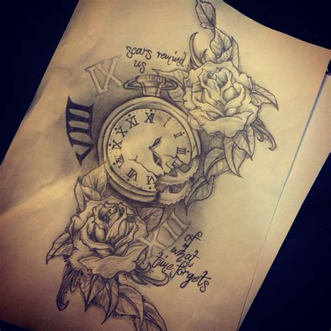 new tattoos design uhr taschenuhr geile tattoos