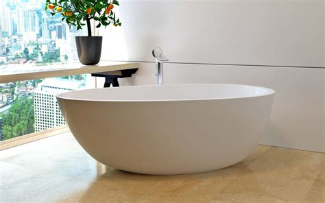 egg shaped bathtub aquatica spoon 2 purescape 204am egg shaped freestanding solid surface bathtub