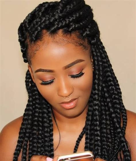 alternating fat and skinny cornrow hairstyles best 25 thick box braids ideas on pinterest box braids