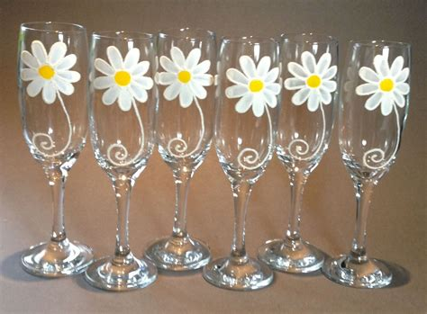 Wedding Gift Wine Glasses by Wedding Gift Set Of 6 Design Chagne Flutes